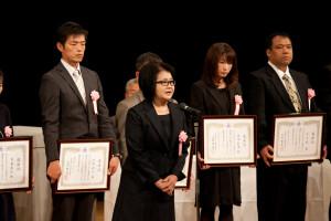 受賞者代表挨拶 松枝雅子さん